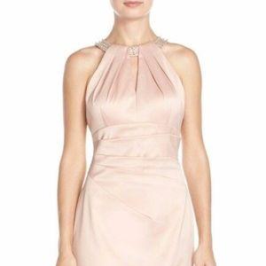 Eliza J Sheath Halter Cocktail Dress